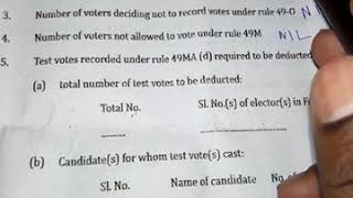 How to fill Form 17C in election