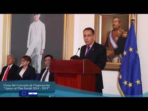 Firma convenio cooperación #UE para Plan Social de El Salvador