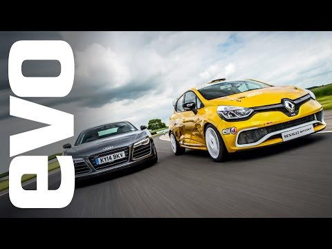 Audi R8 Plus vs Renault Clio Cup Race Car