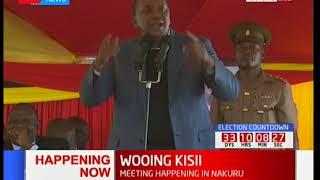 Uhuru Kenyatta gives reason as to why the Gusi leaders in attendance should choose Jubilee