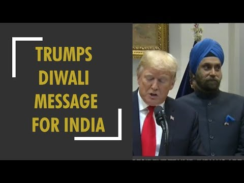 President Trumps Diwali message for India: Greets Hindu community