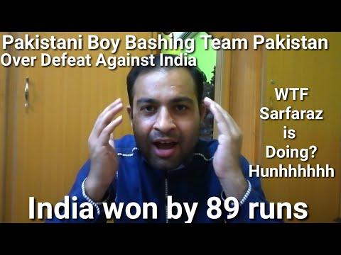 Pakistani Boy Angry Reaction - India vs Pakistan - Match 22 - India won by 89 runs (DLS Method) -Sun