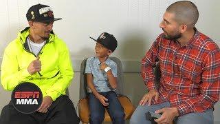Max Holloway and his son 'Mini-Blessed' have fun sitdown, talk Frankie Edgar | UFC 240 | ESPN MMA