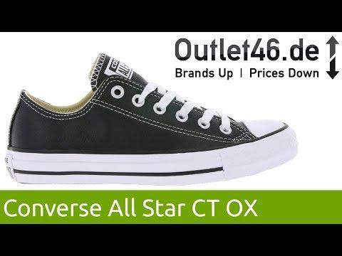 Converse Chuck Taylor Leather OX Schwarz l Der Klassiker aus Leder l 360° Video l Outlet46.de