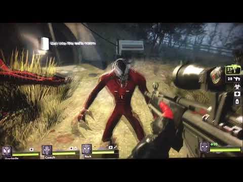 Left 4 Dead 2 Walkthrough Swamp Fever Part 1-(Spider-Man Mod)
