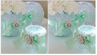 DIY | BLING AND GLAM BABY SHOWER | INEXPENSIVE DIY | TIFFANY INSPIRED
