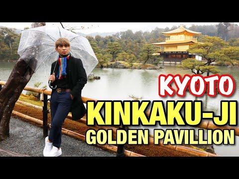 KINKAKU-JI   Golden Pavillion   KYOTO, JAPAN🥰 Super Wow👏👏👏  Kahit Super Rain RAVAN💪  Miko Pogay