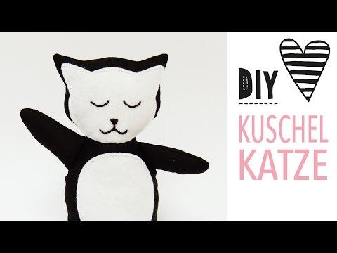 Kuscheltier Katze nähen mit kostenlosem Schnittmuster