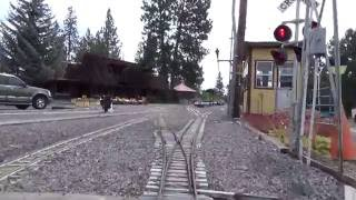 """Train Mountain Oregon: 4 Hour Electric Box Cam Ride with a Diesel Loco """"Tractor Pull"""" At end"""