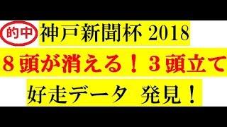 神戸新聞杯2018好走データ8頭が消える!3頭立て!