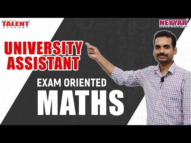 Most Expected Maths Questions for University Assistant