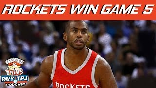 Rockets Stun Warriors in Game 5 Win | Hoops N Brews | Kholo.pk