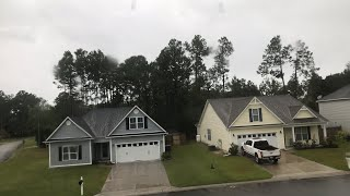 Hurricane Florence from the Kings Grant area of Wilmington North Carolina