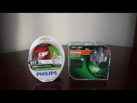 Philips LongLife EcoVision vs OSRAM Ultra Life