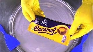 Cadbury Chocolate Ice Cream Rolls   fried Dairy Milk Chocolate & Caramel rolled Ice Cream   ASMR