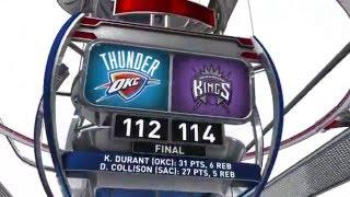 Oklahoma City Thunder vs Sacramento Kings - April 9, 2016