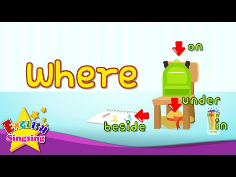 Where? (in, on, under) - English for kids