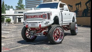 Lifted Ford F250 From West Texas On 30x16s And White Red Powder Combo!(Beat No Lyrics Version)