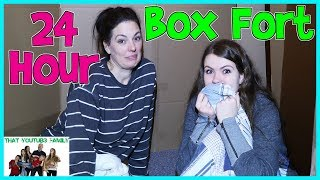 24 Hours - Overnight In Huge Box Fort Maze (Fan Favorite) / That YouTub3 Family | The Adventurers