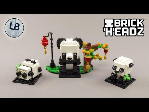 Vidéo LEGO BrickHeadz 40466 : Les pandas du Nouvel An chinois