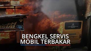 Bengkel Servis Mobil dan Warung PnD di Bukittinggi Terbakar, Kerugian Mencapai Rp 1 Miliar