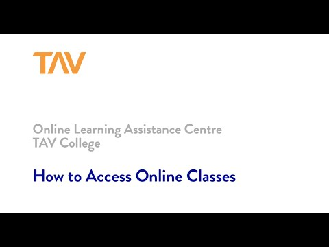 How to Access Online Classes - Fall 2020