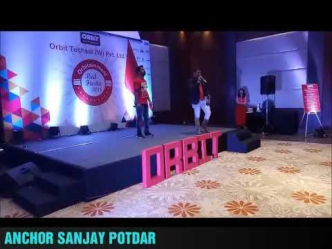 Anchor Sanjay Potdar Hosting Orbit Annual Day | Best Anchor of Pune Mumbai Bangaluru India
