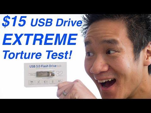 $15 USB Drive EXTREME torture test - Samsung USB 3.0 Metal Bar Flash Drive 32GB