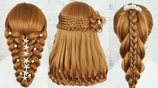 Top 5 Most Beautiful Hairstyles For Party & Wedding - Amazing Hairstyles Tutorials Compilation