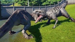 INDOMINUS REX Vs TYRANNOSAURUS REX - Jurassic World Evolution