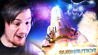 ESCAPING THE PLANET!! || Subnautica ENDING (ROCKET ESCAPE) Full Release