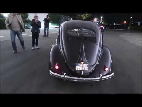 VW Brezelkäfer (Baujahr 1953) - Nachtfahrt