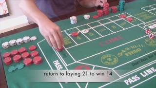 """Craps betting strategy - """"growth"""" system with high action / low risk!"""