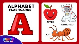 Abc for kids - ABC Flashcards   - Alphabet - Letters for toddlers - Flash Cards