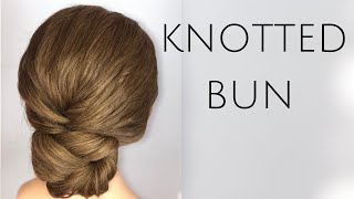 Quick Textured Knotted Bun Bridal & Bridesmaid Hairstyle For Long & Medium Length Hair