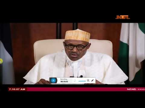 What President Buhari told Nigerians, independence Speech (1st Oct 2017)