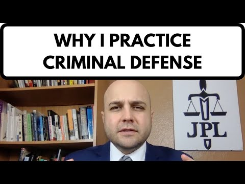 video thumbnail - Why I Practice Criminal Defense