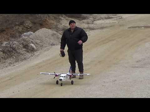 avios-bushmule-1500mm-redblue-pnf-maiden-flight-in-a-quarry