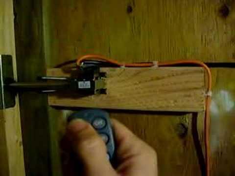 Make a Remote Controlled Deadbolt