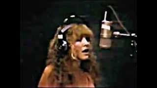 """""""Leather and Lace"""" Stevie Nicks in studio"""