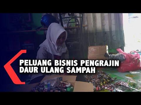 pengrajin daur ulang sampah jadi peluang bisnis
