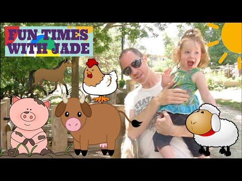 , title : 'Jade Visits A Farm   Farm Animals: COW, SHEEP, RABBIT, DUCK, GEESE, CHICKEN, TURKEY, PIG & HORSE.