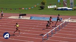 Niort 2018 : Finale 400 m haies Espoirs F (Lucie Kudela en 57''97)
