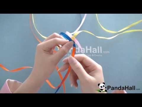 Cómo hacer pulsera colorida con cinta de satén para niñas