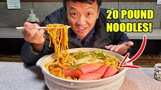 MASSIVE 20 Pound BREAKFAST NOODLES  & 100 CHICKEN WING Food Challenge in Nagoya Japan GIANT FOOD DAY