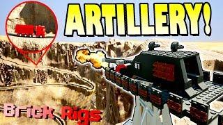 LONG RANGE ARTILLERY VS TRUCK CHALLENGE! - Brick Rigs Multiplayer Gameplay Ep7