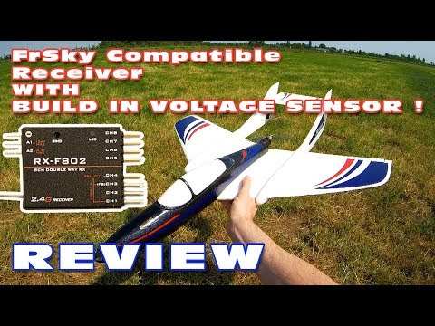 Presentation + Range & Voltage-sensor Test / Review of the RX-F802 FrSky receiver :)