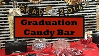 High School Graduation Party Ideas + Candy Bar