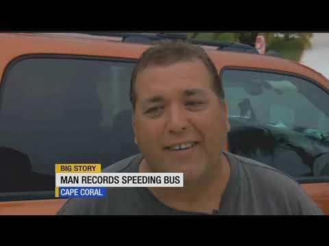 Man films school bus speeding on Veterans Highway
