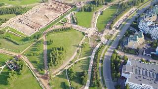 Разбитый ландшафтный парк Митино с квадрокоптера